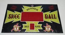 Absolute Rare Vintage Skee Ball Marquee In Mint Condition ! Never Used.  RARE