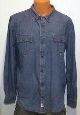 435ef3b171 Levi s BLUE JEAN SELVEDGE SHIRT XL (Slim Fit) Denim Retro Western Buttons  rare