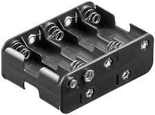 Goobay 10x AA (Mignon) battery holder black Push on (11469)