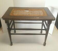 Vintage Cane Caned Mahogany Piano Bench Seat Needs Repair