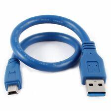 Bleu USB 3.0 Male a Mini 10 broches male m / m Cable d'extension cable de c J6K6