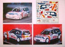 NISSAN SUNNY GTI RALLYE CATALUNYA COSTA BRAVA 1994 SALVADOR SERVIA DECALS JAL43