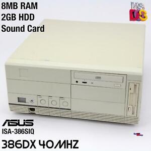 Retro 80386 386 Dx 40MHZ Computer PC ASUS ISA-386SIQ Windows 3.1 Ms-dos Sound
