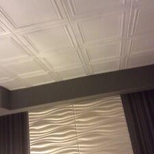 Polystyrene Glue Up Ceiling Tile #RM-24 (96 pcs. ~260 sq.ft.) DIY popcorn cover