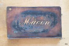 ANCIEN POCHOIR VIN CAISSE Antique French wine stencil MACON Bourgogne
