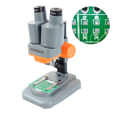 40X Portable Binocular Stereo Microscope 20X Eyepieces LED For PCB Repairing