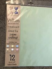 Paper Reflections Translucent Vellum Paper, 12 sheets, 2 of each pastel color.