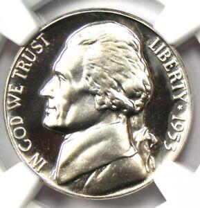 1953 Proof Jefferson Nickel 5C - Certified NGC PR69 Cameo (PF69) - $1,500 Value!
