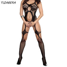 Sexy Lingerie Plus Size Bodystocking Sexy Costumes Open Bra Crotch  Body qq217