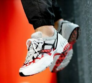 NEW Saucony Shoes Grid Web S70466-2 White Gray Red Black sz 8