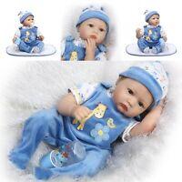"""Top Sale Realistic 22"""" Reborn Baby Doll Boy Newborn Lifelike Soft Vinyl Silicone"""