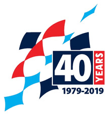 M-Sport 40 Years Commemorative Flag Sticker