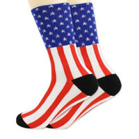 Stars&Stripes Cotton Fashion Mens Unisex American USA Flag Casual Socks Glory
