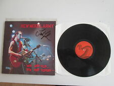 NEW MODEL ARMY WE ARE OLD WE ARE YOUNG SLEEVE SIGNED BY JUSTIN SULLIVAN SR 10008
