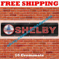 Shelby Cobra Banner Flag 2x8Ft Motorsport Car Racing Garage Man Cave Flag NEW