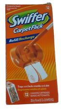 Swiffer Carpet Flick Refill/Recharge Cleaning Cartridges, 1-12 count Open Box