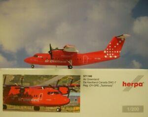 Herpa Wings 1:200 de Havilland Air Greenland Oy-Gre 571166 Modellairport500