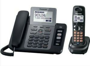 Panasonic KX-TG9471B 2 line corded phone base plus 2 Cordless phones & 4 cradles