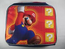 Super Mario Nintendo Insulated Lunch Pale Bag Box Great Condition