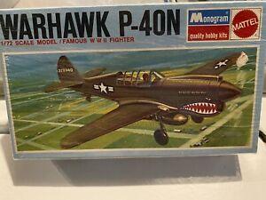 Vtg. Monogram 1/72 P-40N Warhawk— Brand New, Shrinkwrapped since 1967 !!