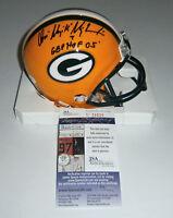 PACKERS Don Majkowski signed mini helmet w/ GBP HOF '05 JSA COA AUTO Autographed