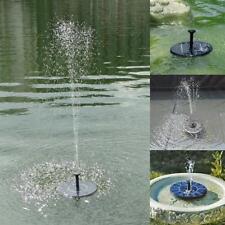 Solar Water Pump Power Panel Kit Fountain Pool Garden Pond Submersible Black New