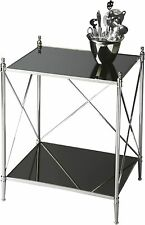 Butler Deidre Glass & Metal End Table New