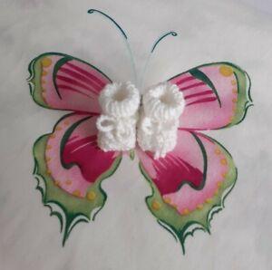 Puppen Schuhe weiß , 4 cm Fußlänge letzte  Gelegenheit