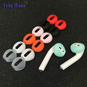 1pair Silicone Ear Caps Wireless Airpods Iphone7 7plus Ear Pads Earphone Case