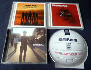 4 CDs EMBRACE The Good Will Out Of Nothing This New Day + World At Your Feet