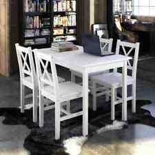 4X Stühle Holztisch Esstisch Sitzgruppe Essgruppe Tischset Esszimmer Esstischset