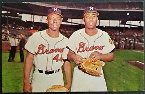 African-American Baseball Players Hank Aaron & Tommy Aaron, Milwaukee Braves.