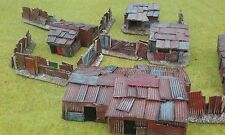PAINTED 5 x 15mm Shantys & fencing Wargaming Terrain AK47 District 9 Sci-fi