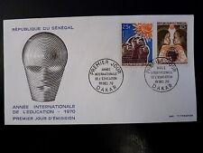 SENEGAL AERIEN 337/38   PREMIER JOUR FDC    ANNEE EDUCATION    25+40F     1970