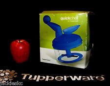 Tupperware BLUE Quick Chef Food Processor NIB ~Chop Chopper Spin Blend Whisk Mix