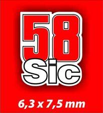 1 Adesivo Stickers SIMONCELLI 58 Super Sic grande