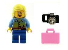 LEGO Spiaggia Vacanza Maker Donna Ragazza con custodia a valigetta rosa e macchina fotografica NUOVO