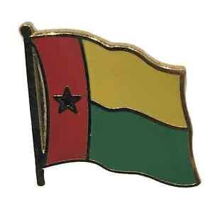 Guinea-Bissau National Flag 3/4 Gold Plated Courtesy Enamel Pin Badge