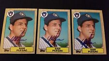 Dan Plesac Brewers 1987 Topps #279 Phillies Cubs Signed Authentic Autograph JA15