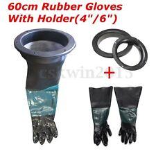 Pair of Gloves & 2pcs 250mm Glove Holder for 6'' 8'' Blast Cabinet Sand Blast