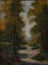 Peter Snell 1935 British Oil painting A Country Path Winding Through Woodland