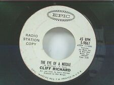"""CLIFF RICHARD """"THE EYE OF A NEEDLE / WIND ME UP"""" 45 PROMO"""