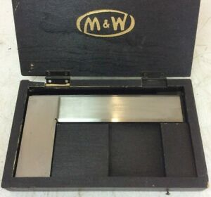 """Moore & Wright Precision 6"""" Engineers Square   AA Grade   Bevelled Edge   No.401"""