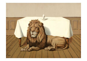 The Wedding Meal A2 by Rene Magritte Surrealism High Quality Art Print