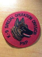 PHILIPPINES NATIONAL POLICE ( PNP ) PATCH  K9 K-9 CANINE - ORIGINAL!
