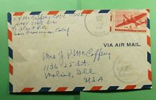 DR WHO 1942 NAVY #8145 SOLOMON ISLANDS AIRMAIL TO USA WWII CENSORED  f52448