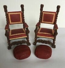 Lot 2 Dollhouse Miniatures Furniture Chairs Raine Take A Seat Mr. Vanderbilt