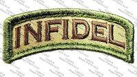 INFIDEL USA US ARMY MORALE ROCKER TAB MULTICAM PATCH W/ VELCRO® BRAND FASTENER