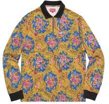Supreme Fall/Winter 2017 Paisley L/S Polo Shirt Royal Size Medium Sold Out Bogo