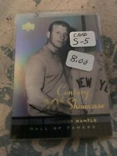 2001 UD HALL OF FAMERS 20TH CENTURY SHOWCASE #S5 MICKEY MANTLE NMMT